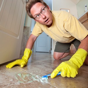 Carpet Cleaning - Sunshine Coast - New Life Cleaning - toothbrush man